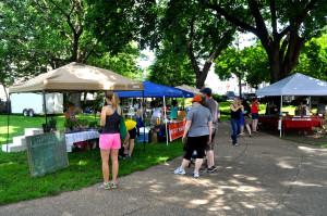 Pretzel Park was taken over this Saturday by Manayunk's farmer's market.