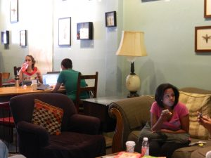 Patrons at InFusion Coffee and Tea Gallery
