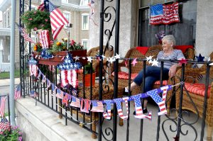 Caroline Kerper has watched the parade from her front porch for 58 years.
