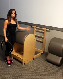 Trullo Pilates owner Daniela Galdi explains the different equipment used during her pilates sessions.