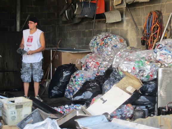 cans, metal, scrap