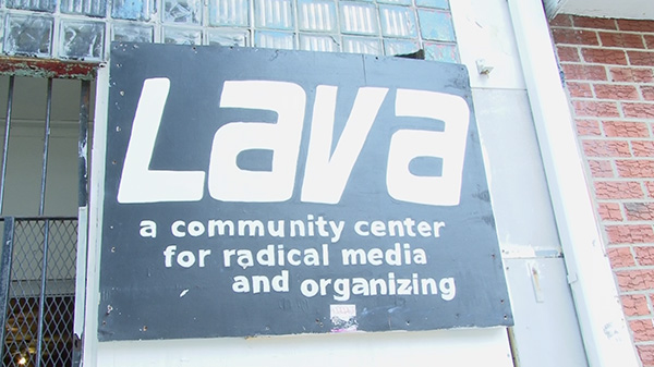 Signage that adorns the outside of the LAvA Zone