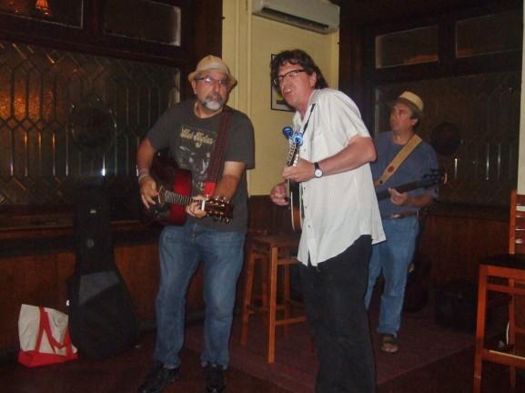 The Rounders performing their folk rock at the Mermaid Inn.