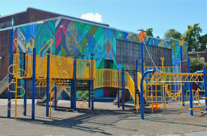 It is uncertain what will become of Alexander Wilson School's playground, which was funded by the Hamels Foundation.