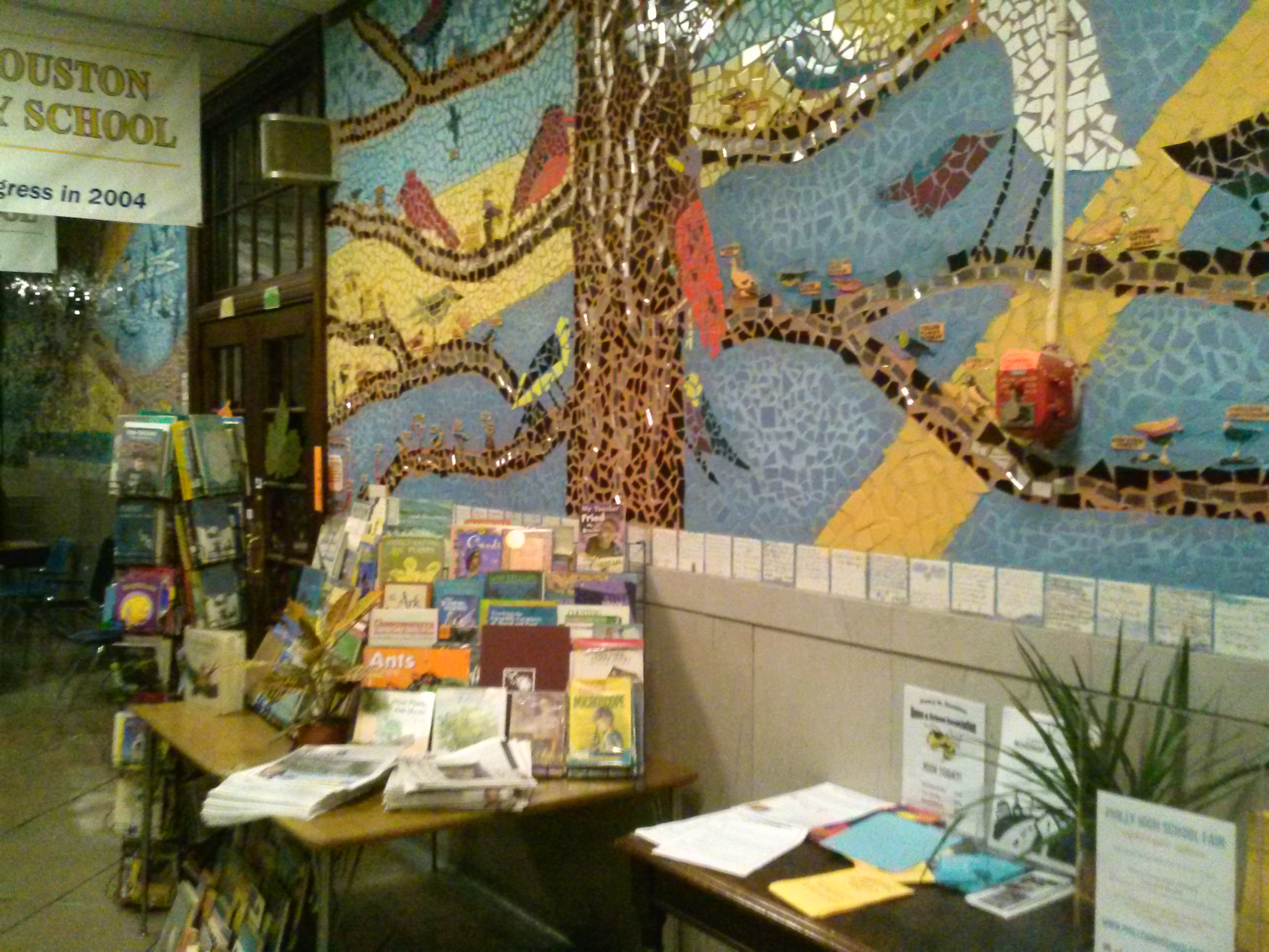 Houston Elementary is full of mosaics and other art to brighten the hallways.