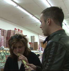The Tour Guide shared the smell of fresh Lemongrass at the Asian Supermarket