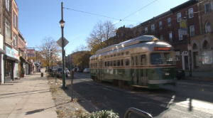 Girard Avenue is known for its wide streets, diverse neighborhood and trolley tracks running its length.