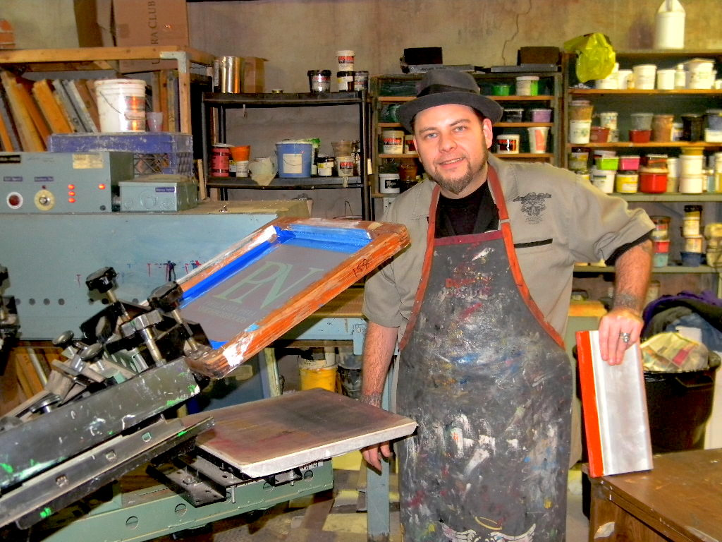 Brian Potash, 39, is the owner of Devilfish Ink, a printmaking and graphic design business that has enjoyed a 17-year run.