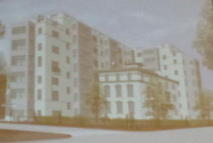 A rendition of the building proposed in the compromise plan.