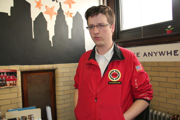 Josh Cozadd explaining his role at City Year