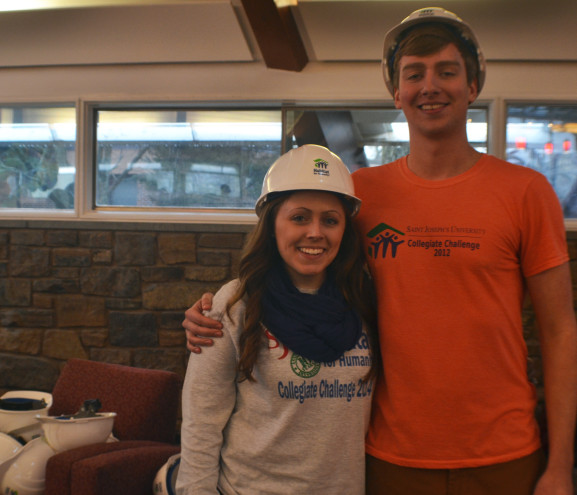 Kelly Rogers and Alex Bjorling help keep the Collegiate Challenge program running.