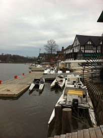 Boathouses found along Philadelphia's famous Boathouse Row.