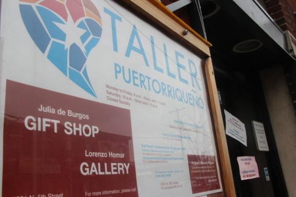This is the entrance of one of Fairhill's most prevalent organizations, Taller Puertorriqueno.