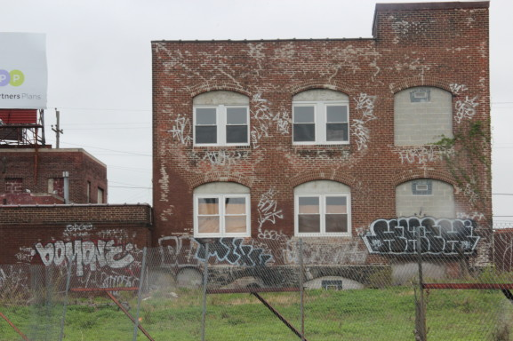 This is one of the many abandoned warehouses located in Fairhill.
