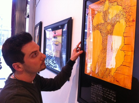 Sean Martorana was just one local artist to perform at a recent Indy Hall exhibition.