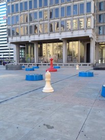 Several videos feature the plaza next to City Hall.