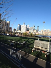 "University of Penn's field can be seen in ""Philly."""