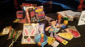 Gag prizes were given to StorySlam competitors at the StorySlam on April 22 at L'Etage.