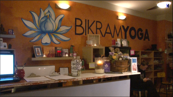 The Bikram Yoga studio in Center City hosts classes provided by Philly Yoga Factory.