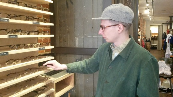 Geoff KixMiller was employed by Warby Parker to work at its showcase in Art of the Ages.