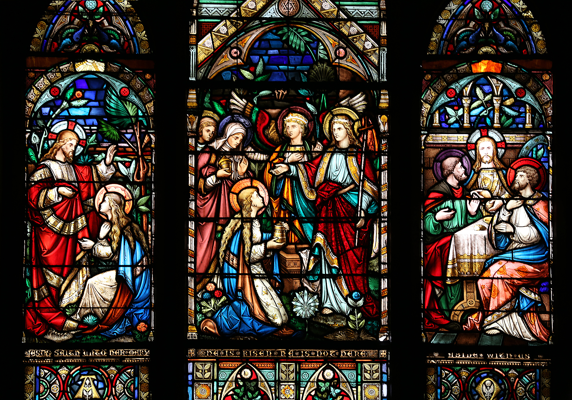 Slack and Booth stained glass window valued at over $1 million dollars.