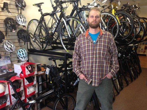 Ed Bush is the manager at Wissahickon Cycler as well as trail master in the community.