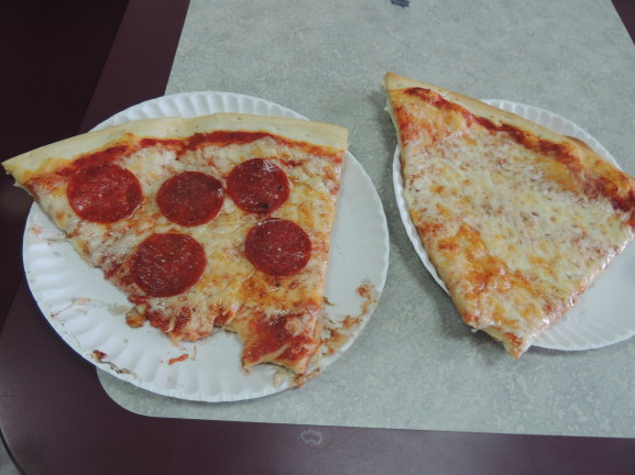 two slices of Gennaro's pizza