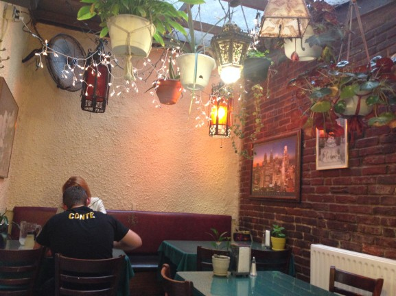 The Moroccan-inspired ambiance nicely complements Alyan's classically Middle Eastern menu.