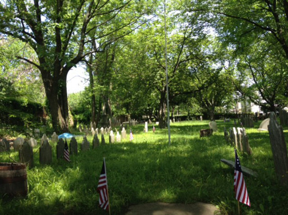 This graveyard serves as the final resting place for soldiers as far back as the Revolutionary War.