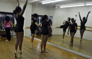 The dancers struck a final pose for the ending of their routine.
