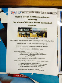 A flyer from the Marc 2014 Basketball Tournament advertised by the PAL.