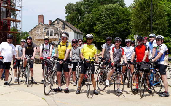 The Interfaith Center members are posing before going on a 30 mile bike ride to raise funds for their programs