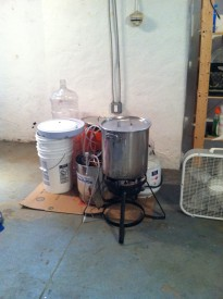 This was Sheridan's initial brewing system when he used to brew in his home.