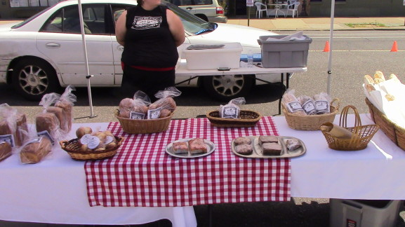 Wildflour Bakery, from the northeast's Torresdale section, brought a bevy of bread products for sale to the market.