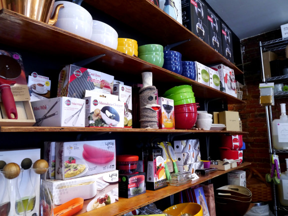 Holmes buys products from other small businesses to complete her inventory and help them succeed