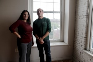 Left: Marilyn Cruz, 45, property manager; Right: Ed McColly, 31, NKCDC