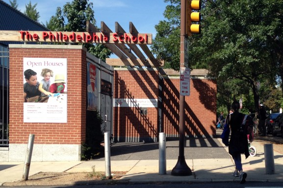 Although The Philadelphia School is located in center city, 3 percent of it's 410 students during the 2013-2014 school year lived outside of the city's limits.