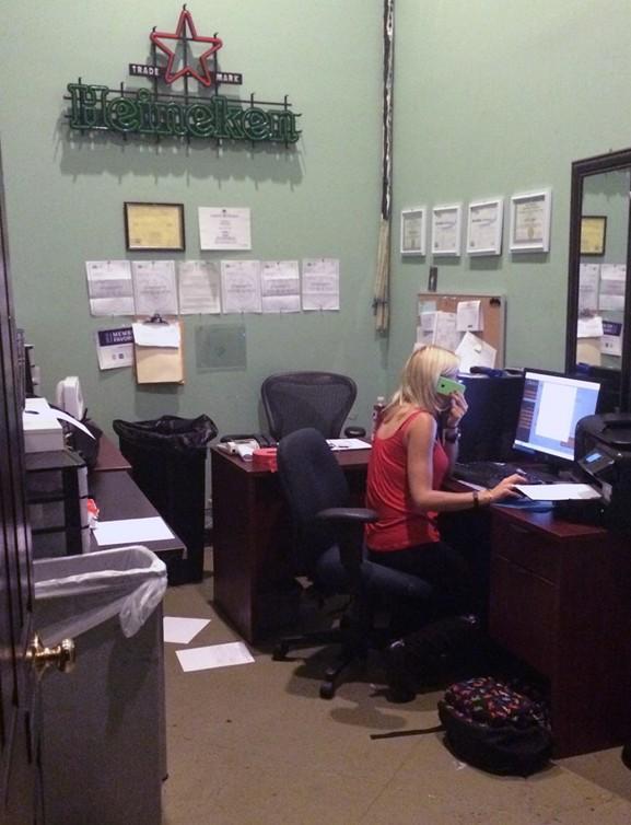 (Left) Weaber in her office.