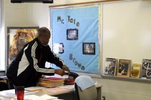 tate in classroom