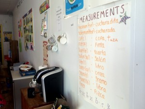 Students learn practical  English Language skills, often with a focus on culinary terminology, by Leah Ference.