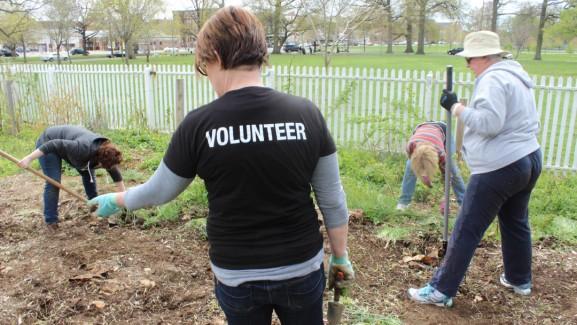A PHS volunteer at Woodford 4/25