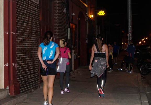 After their run, Fishtown Beer Runners head into the Barcade.