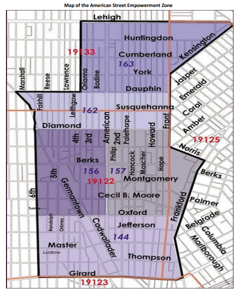 American Street Empowerment Zone Map
