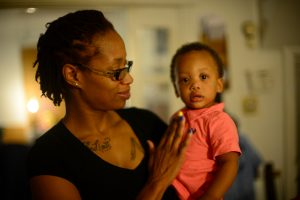 Lynette Trawick and her young son Koa. While Trawick was HIV positive during her pregnancy, there was no worry about Koa being born with the infection as long as Trawick had access to her medicine. Mother-to-child transmission of the illness occurs when medicine is inacessable to the mother.