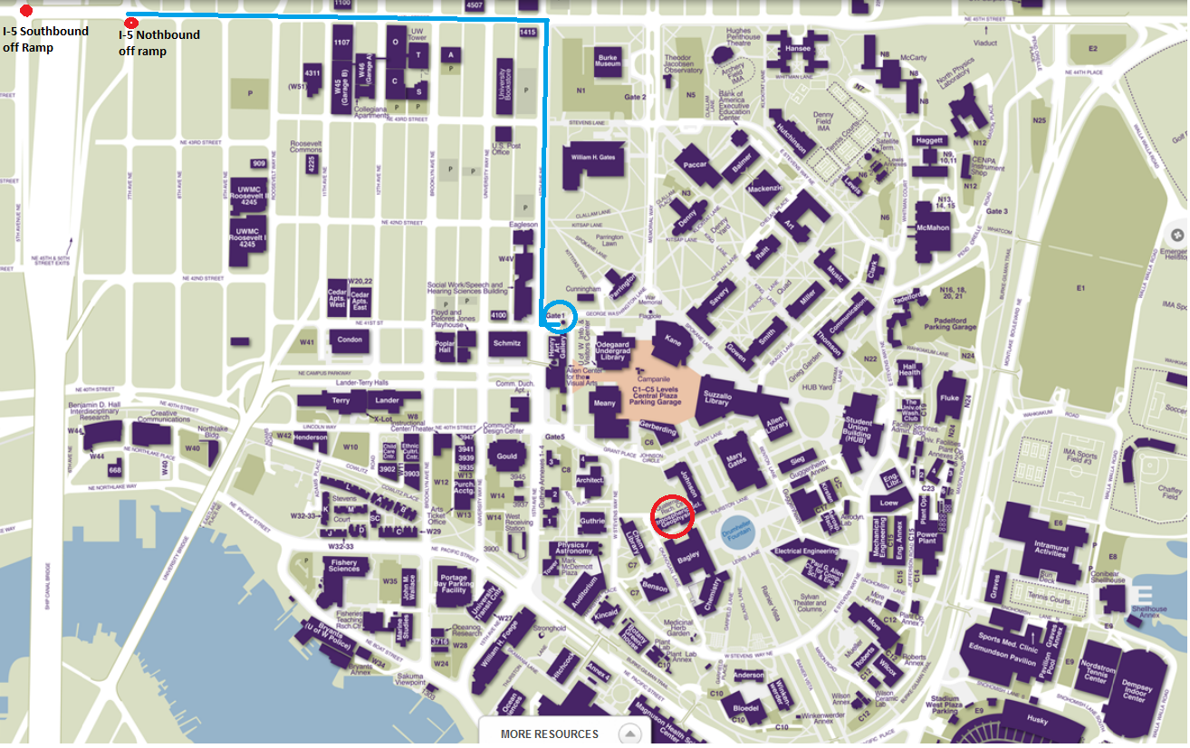 University Of Washington Campus Map