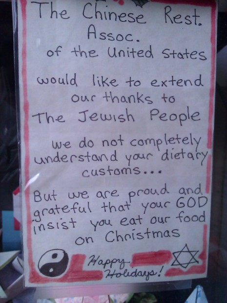 So Why Do Jews Eat Chinese Food on Christmas?