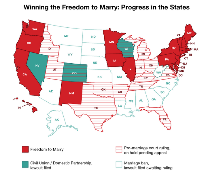 the cost and benefits of same sex marriage in america Married same-sex spouses of federal employees and annuitants  united  states of america, including their state of residence 2/22/2016 5  we will send  you information about the cost of the survivor benefit and ask you to.