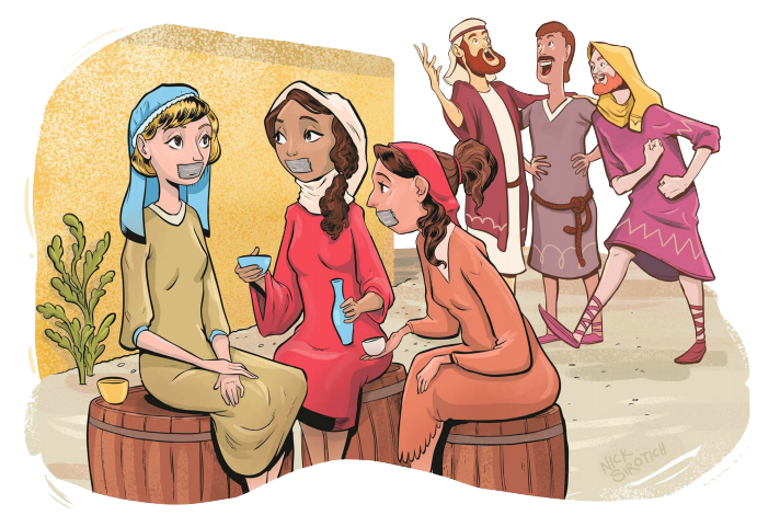 Cuando se ilustran las historias de la Biblia...