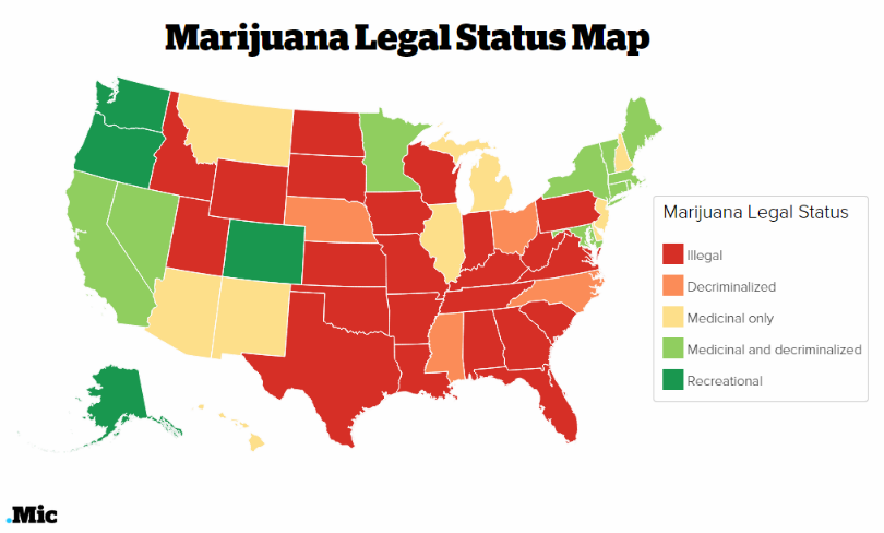 legalizing marijuana in the u s 2013-4-19 how legalized marijuana is sweeping the us—in one map denver, co  and, at least five states will vote on legalizing adult-use, or recreational,.