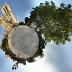 Wee Planets Stereographic Projection by Alexandre Duret